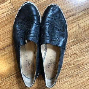 Chanel Leather espadrille Size 39 (fits like 8)